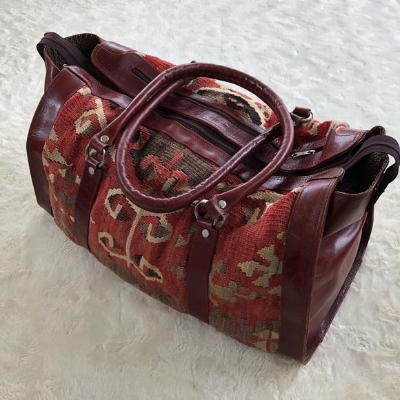 kilim art by demir Handbags - Kilim art by demir leather trim duffel bag 7de8d99cc273f